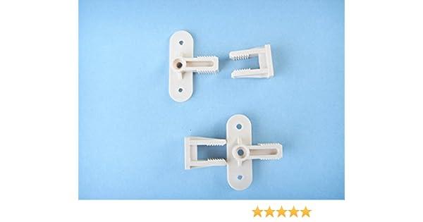 Cream-White Plastic Permafix Block Screw