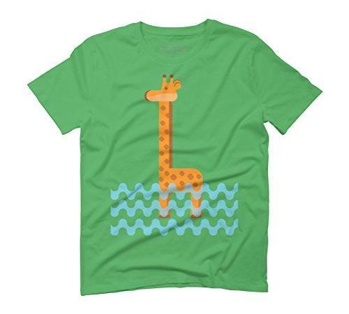 Giraffe Men's Graphic T-Shirt - Design By Humans Green