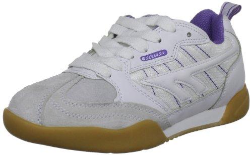 Hi-Tec Squash Classic W C002139/011/01, Damen Sportschuhe - Squash & Badminton, Weiß (White/Violet), 39 EU / 6 UK