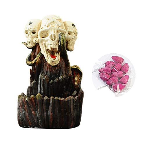 franktea Räuchergefäß Rückfluss Räucherstäbchenhalter Keramik Keramik Unikat Geisterhafte Dekoration Handwerk Geschenk für Halloween Ghost Festival (Ghost Handwerk Halloween)
