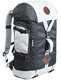 CarryPro HOBO40 Smart Travel Backpack Including Rain Cover, Detachable Waist Belt and Separate Pouch(Grey Black)