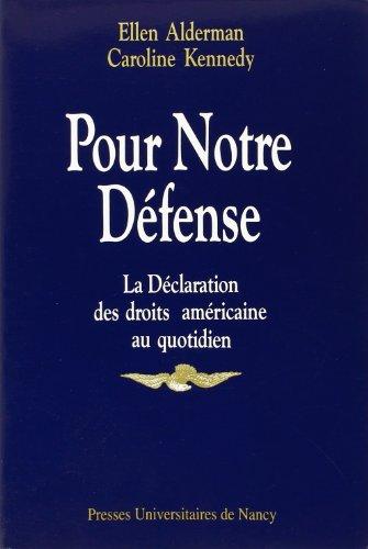 Pour notre defense, la declaration des d...