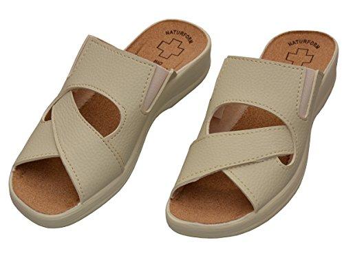 Bawal Women Pantolette Scarpe Da Lavoro Medical Shoes Sandali Comfort Sughero Pantofole Lavoro Leggero E Confortevole Beige 1