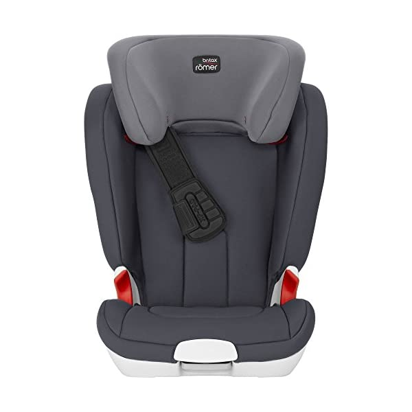Britax Römer car seat Kidfix XP (SICT) Group 2/3. Britax Römer Front impact pad - XP, storm gray Shockproof side protection - MTS Codes High back for shock absorbing side protection and correct strap guide 45