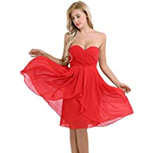 Robe rouge bustier cocktail