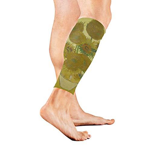 Beinmanschette Süße Mops-Kompressionssocken unterstützen rutschfeste Wadenärmel - Verbessern die Durchblutung bei Schienbeinschienen, Wadenschmerzen, Laufen, Radfahren, Reisen, Sport 1 Paar