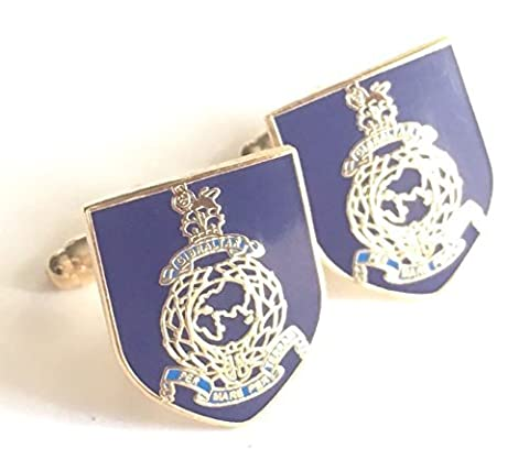 Royal Marines Military Enamel Crested Cufflinks (N35) Gift Boxed