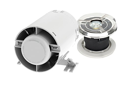 Silavent GSV100-TKC - Zaffiro gl luce kit timer / canale / soffitto in linea ventilatore assiale -