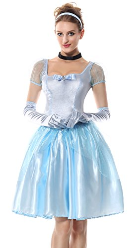ie Prinzessin Kleid Erwachsene Damen Lang Cosplay Kostüm Halloween ()