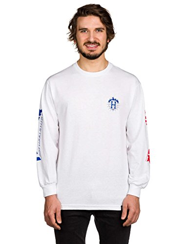 Herren Langarmshirt HUF X Thrasher TDS T-Shirt White