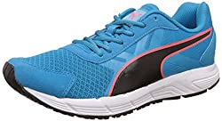 Puma Mens Puma Valor Idp Atomic Blue, Puma Black and Red Blast Running Shoes - 10 UK/India (44.5 EU)