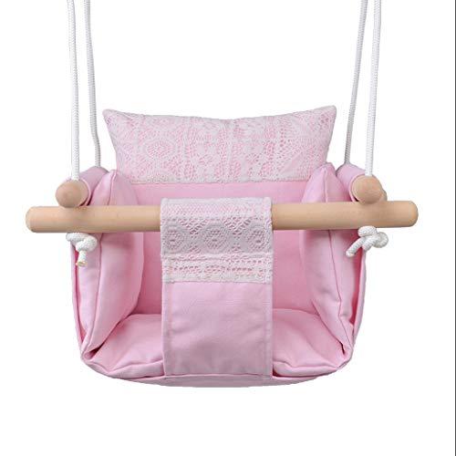 Outdoor-traditionellen Swing (Gym Kingdom Swing Kreative Infant Outdoor Hängesessel Kinder Leinwand Schaukeln Indoor Home Baby Tasche Schaukeln Sitz Indoor und Outdoor Schaukeln Rosa)