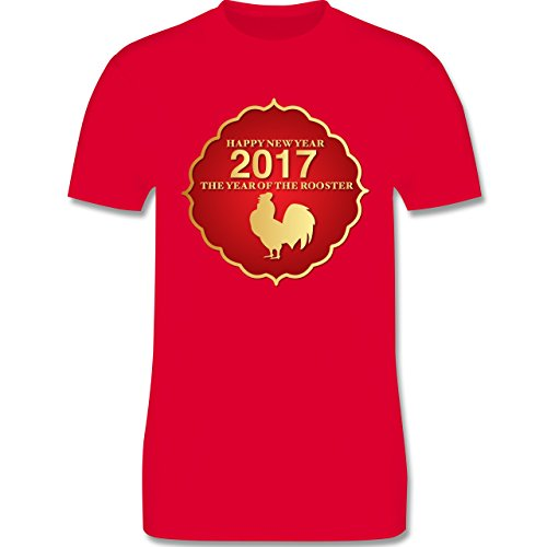 Weihnachten & Silvester - Happy New Year 2017 Year of the Rooster - Herren Premium T-Shirt Rot