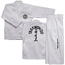 ITF Taekwondo Doboks para principiantes y color correas Talla:140 cms