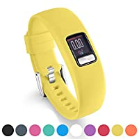 Ansblue Strap for Garmin Vivofit 4, Smooth Silicone Replacement Wristbands for Garmin Vivofit 4 Activity Tracker, with Secure Metal Watch Clasp Buckle Straps Large Small