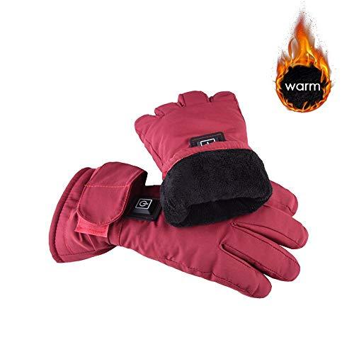 PROKTH Guanti riscaldati a Batteria Ricaricabili Guanti Touchscreen Impermeabili Uomo Donna Scaldamani Invernali per Ciclismo Moto Escursionismo Sci Alpinismo
