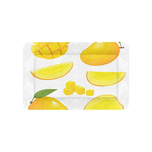 Reife gelbe Mangofrucht-Frucht Extra große individuell bedruckte Bettwäsche weiche Haustier Hundebetten für Welpen und Katzen Möbel Matte Cave Pad Cover Kissen Indoor Geschenk Lieferant 36 X 23 Zoll -