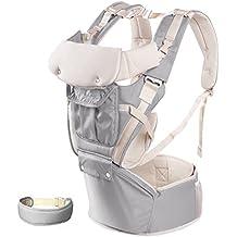 Design ergonomique pour garder votre bébé en toute sécurit ... Porte-bébés,  3 Positions de Confortable Baby Carrier Ergonomique Écharpe bébé, 360° 5f9a963e6f4