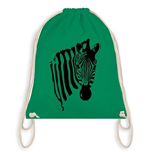 Wildnis - Zebra - Unisize - Grün - WM110 - Turnbeutel & Gym Bag