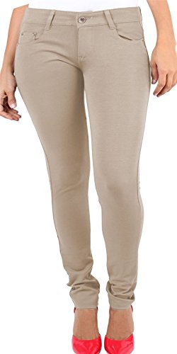 Ladies Womens Skinny PLUS SIZE Stretchy Fitted Jeggings Jeans STONE UK UK SIZE 16