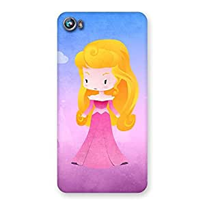 Girl In Pink Back Case Cover for Micromax Canvas Fire 4 A107