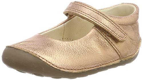 Bronze Metallic Kid Schuhe (Clarks Mädchen Tiny Mist T Sneaker, Silber Bronze Metallic, 21 EU)