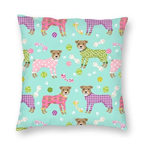 Pitbulls In Pjs - Niedlicher Pitbull Hundeentwurf - Pitbull Pyjamas - Mint_613 Dekorativer Kissenbezug Wohnkultur Kissenbezug Bunt 18x18inch