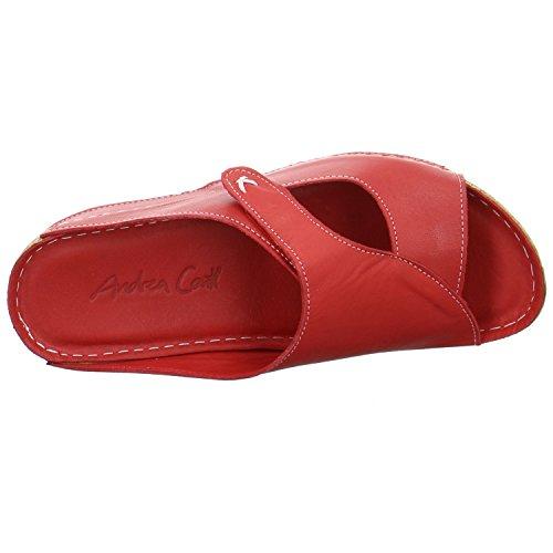 Andrea Conti Damen Pantoletten Rot