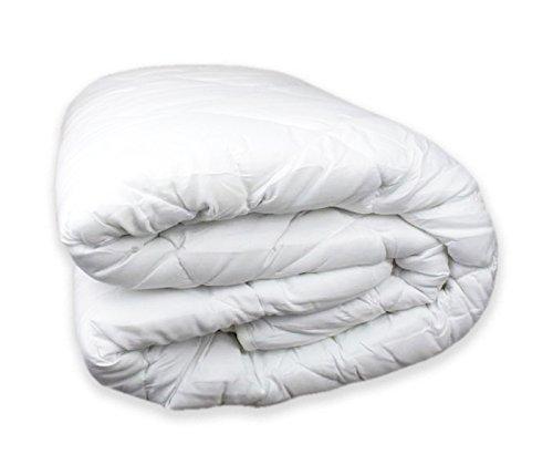 Tata home piumino invernale imbottitura 300 gr/mq in morbida microfibra misura 2 piazze matrimoniale cm 250x200 colore bianco