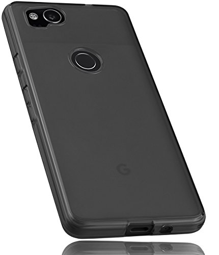 mumbi Schutzhülle für Google Pixel 2 Hülle transparent schwarz