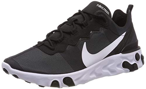 Nike React Element 55, Zapatillas de Running para Hombre, Negro (Black/White 003), 42 EU