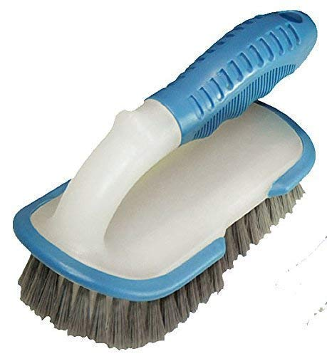 well2wellness® stabile Pool Reinigungsbürste/Power Handbürste mit Griff + verstärkten Borsten (022909)