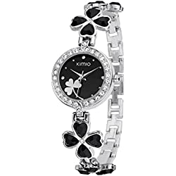 Sweet Home Ladies Black Diamond Bracelet Wristwatch
