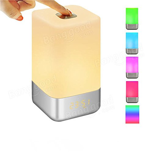 Global Solmore Touch Sensor Multicolor Dimmable LED Veilleuse de réveil avec simulation de lever de soleil