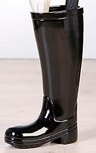 Porte parapluie bottes de pluie noir unique et for Porte parapluie chez ikea