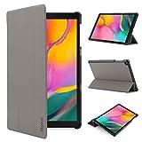 iHarbort Hülle Cover kompatibel mit Samsung Galaxy Tab A 10.1 Zoll (2019 veröffentlicht SM-T510 / T515) - Ultra dünn Etui Schutzhülle Case Holder Stand (Grau)