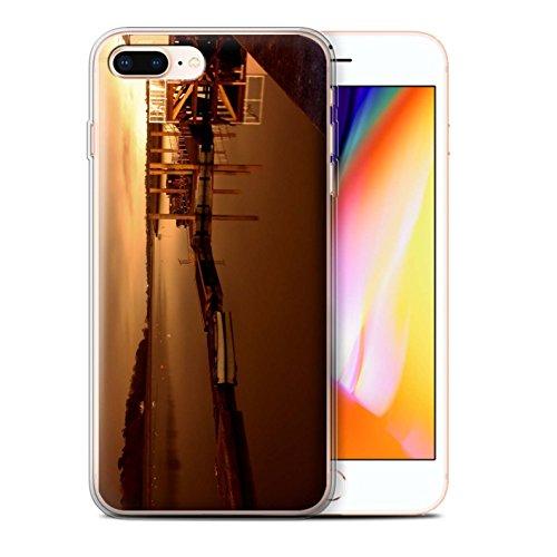 Stuff4 Gel TPU Hülle / Case für Apple iPhone 8 Plus / Altes Boot Muster / Britischen Küste Kollektion Hafen