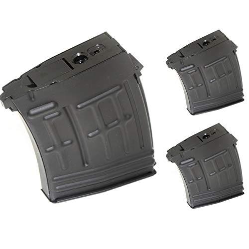 Airsoft Softair Ersatzteile CYMA 3pcs 120rd Mag Hi-Cap Magazin für S&T RS CYMA SVD Gewehr AEG