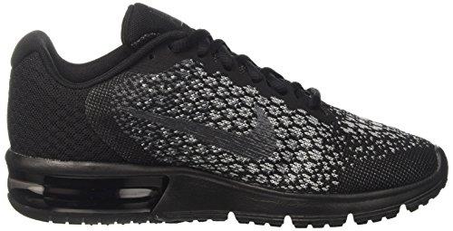 Nike Wmns Air Max Sequent 2, Scarpe Running Donna Nero (Noir/gris Foncé/gris Loup/hématite Métallique)
