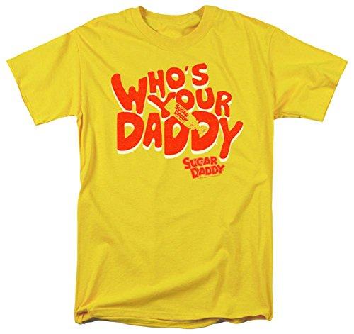 te Candy Who's Your Daddy T-Shirt für Erwachsene, Vintage-Stil - Gelb - X-Groß ()
