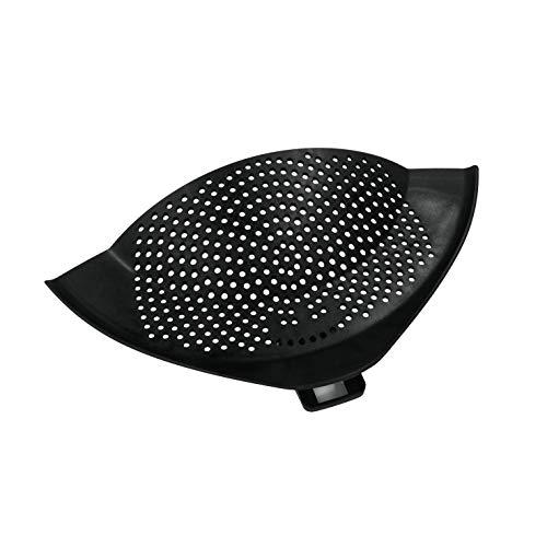 Metaltex Clip-On Escurridor con Pinza para recipientes, Negro, 30 x 10 x 1.5 cm