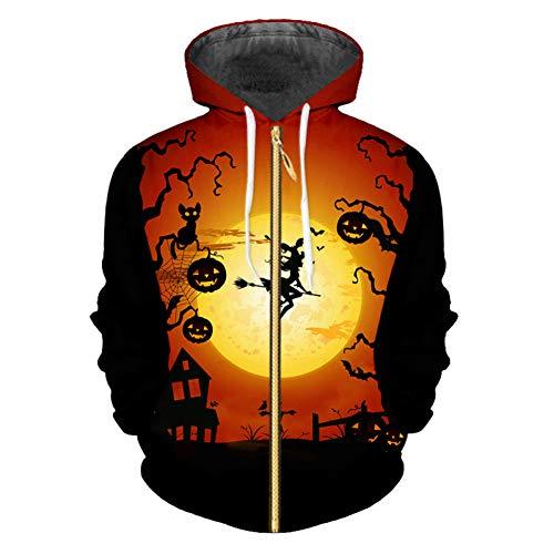 Halloween Lieferanten - VITAWY Hoodie Sweatshirt Halloween 3DGroße Größe