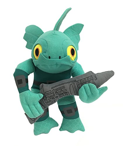 Skylanders - Gill Grunt Character 30cm, light blue Gillman, a race of fish man - Plush toy Quality Nylex - water element