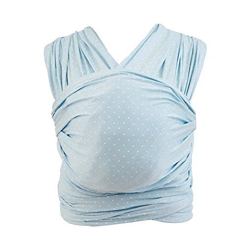 Ergobaby Fascia Neonato Porta Bebe per 0 Mesi Neonati a 11kg, Estiva Traspirante Ergonomica Elastica in 100% Viscosa, Baby Blue
