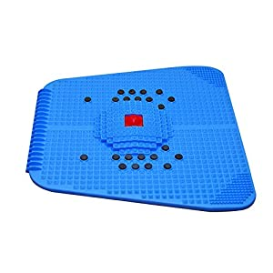 ESCOR Acupressure Power Mat with Magnets n Pyramids for Pain Relief & Total Health, Medium(Blue)