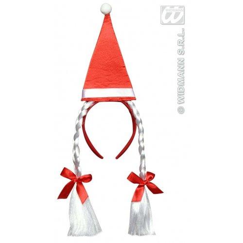 LIBROLANDIA 8558S CERCHIETTI CON CAPPELLO BABBO NATALE E TRECCE (Santa Con Kostüm)