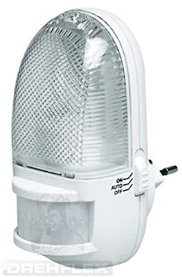 Drehflex® LED Nachtlicht mit Bewegungsmelder für die Steckdose. TÜV und GS geprüft von Drehflex® bei Lampenhans.de