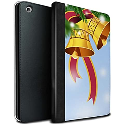 STUFF4 PU Pelle Custodia/Cover/Caso Libro per Apple iPad Mini 1/2/3 tablet / Campane/Nastro / Decorazioni di Natale disegno
