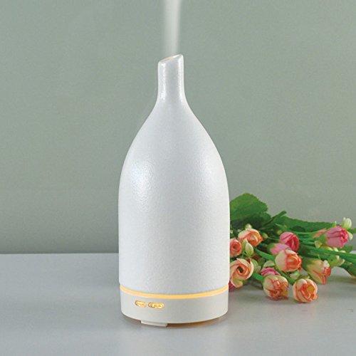 Aroma Diffuser 100ml Ultraschall-Keramik-Aromatherapie Luftbefeuchter Mini Kreative Stute Home-Office-Luftreinigung Maschine,White-D9.0cm*H23.0cm