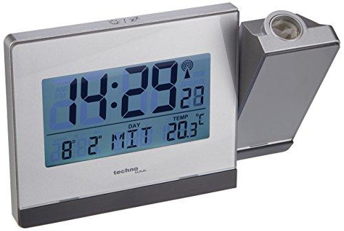 Technoline WT 538 Touchsensor Funk-Projektionswecker, Plastik, Silber-anthrazit, 15 x 4 x 9 cm